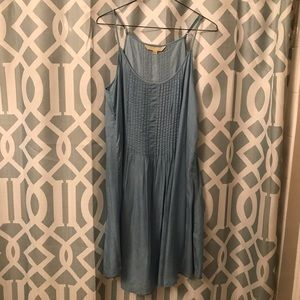baby blue spaghetti strap shirt dress